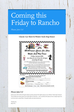 Coming this Friday to Rancho