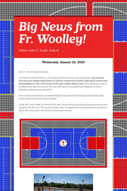 Big News from Fr. Woolley!
