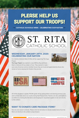 PLEASE HELP US SUPPORT OUR TROOPS!