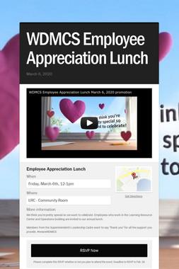 WDMCS Employee Appreciation Lunch