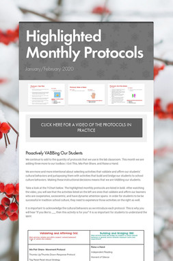 Highlighted Monthly Protocols