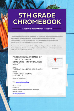 5th Grade Chromebook