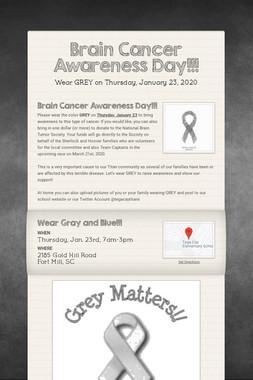 Brain Cancer Awareness Day!!!