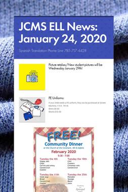 JCMS ELL News: January 24, 2020