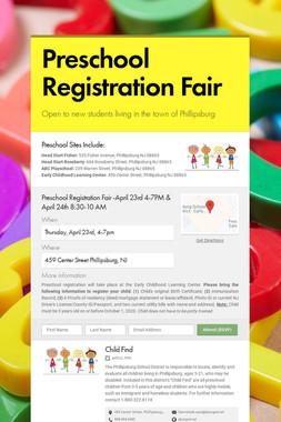 Preschool Registration Fair
