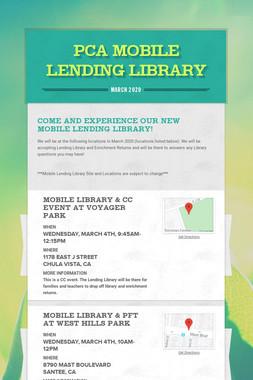 PCA Mobile Lending Library