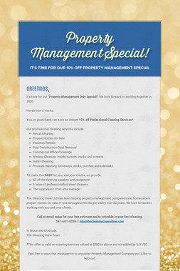 Property Management Special!