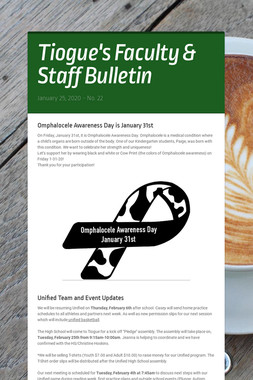 Tiogue's Faculty & Staff Bulletin