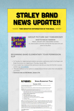 Staley Band News Update!!