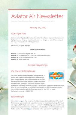 Aviator Air Newsletter