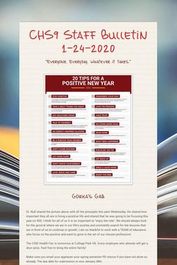 CHS9 Staff Bulletin 1-24-2020