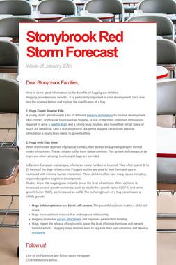 Stonybrook Red Storm Forecast