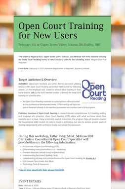 Open Court Training for New Users