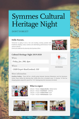 Symmes Cultural Heritage Night