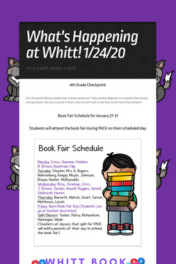 What's Happening at Whitt! 1/24/20