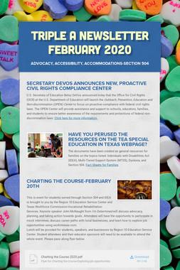 Triple A Newsletter February 2020