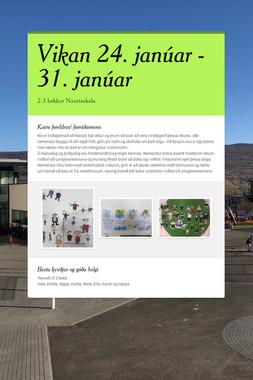 Vikan 24. janúar - 31. janúar
