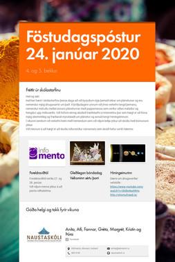 Föstudagspóstur 24. janúar 2020