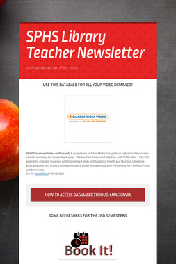 SPHS Library Teacher Newsletter