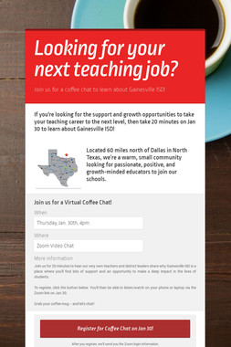 Looking for your next teaching job?