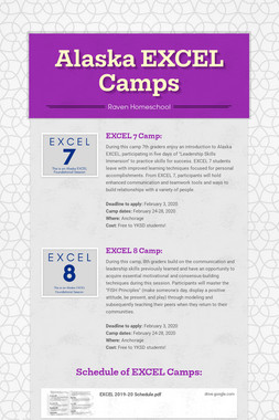 Alaska EXCEL Camps