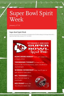 Super Bowl Spirit Week