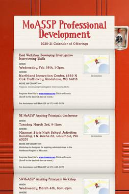 MoASSP Professional Development