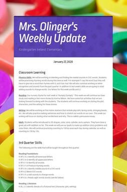 Mrs. Olinger's Weekly Update