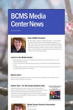 BCMS Media Center News