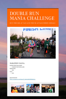 DOUBLE RUN MANIA CHALLENGE