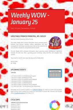 Weekly WOW - January 25