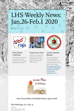 LHS Weekly News: Jan.26-Feb.1 2020