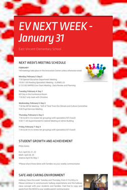 EV NEXT WEEK - January 31