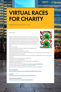 VIRTUAL RACES FOR CHARITY