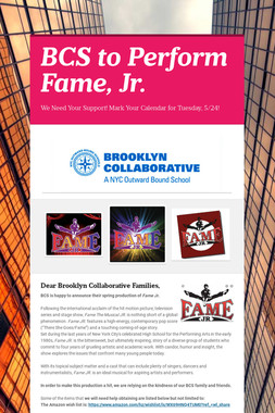 BCS to Perform Fame, Jr.