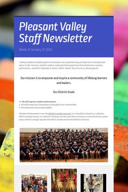 Pleasant Valley Staff Newsletter