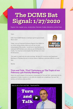 The DCMS Bat Signal: 1/27/2020