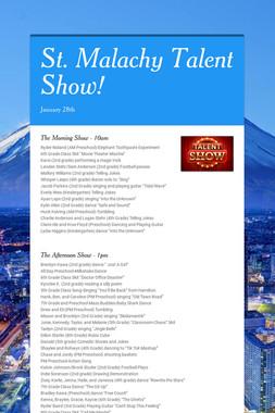 St. Malachy Talent Show!