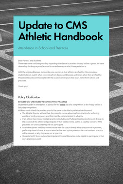 Update to CMS Athletic Handbook
