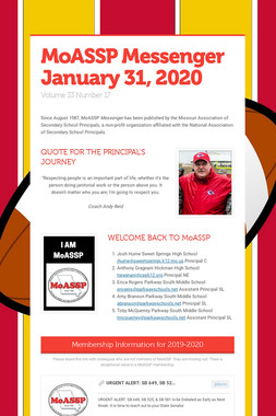 MoASSP Messenger January 31, 2020