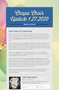 Chapa Choir Update 1.27.2020