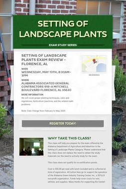 Setting of Landscape Plants