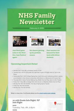 NHS Family Newsletter