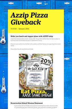 Azzip Pizza Giveback