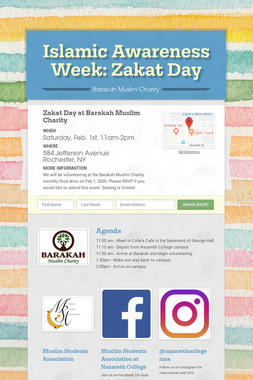 Islamic Awareness Week: Zakat Day
