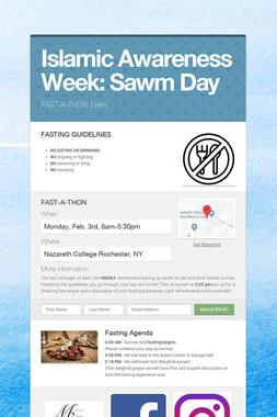 Islamic Awareness Week: Sawm Day