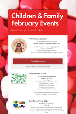 Children & Family February Events