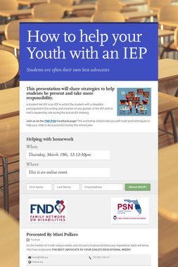 How to help your Youth with an IEP