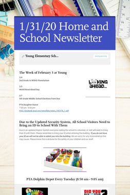 1/31/20 Home and School Newsletter