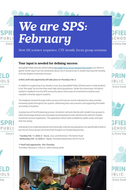 We are SPS: February